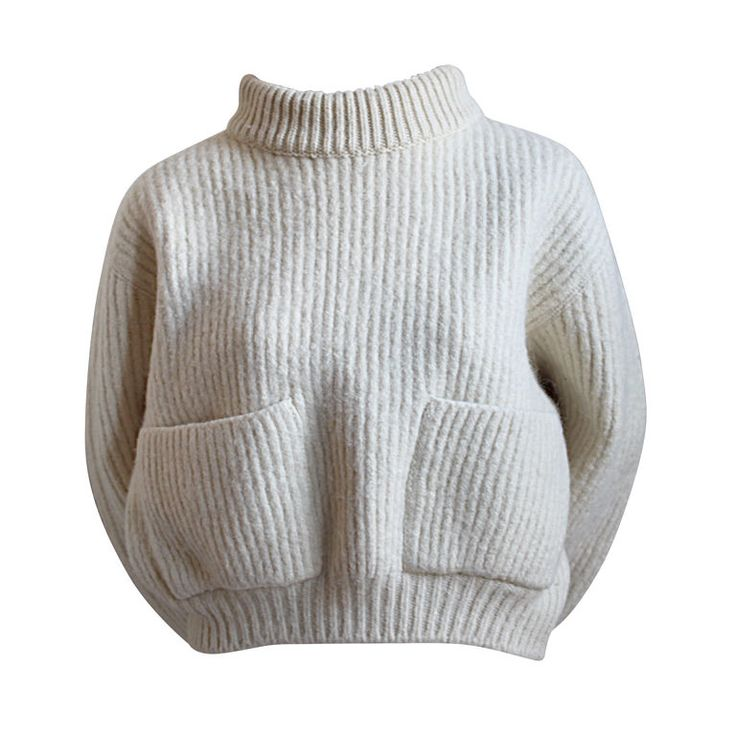 1980's AZZEDINE ALAIA cream cropped mohair sweater | From a collection of rare vintage sweaters at http://www.1stdibs.com/fashion/clothing/sweaters/