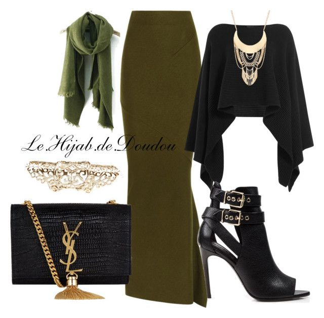 """""""Hijab Outfit"""" by le-hijab-de-doudou ❤ liked on Polyvore featuring Haider Ackermann, Donna Karan, Burberry, Yves Saint Laurent and Accessorize"""