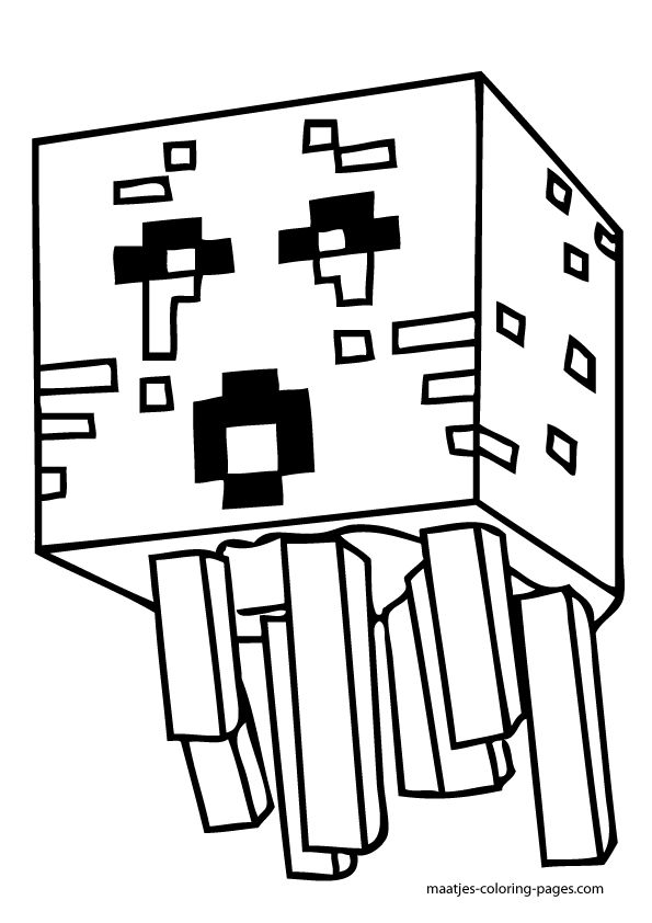 Minecraft Village Coloring Pages Sketch Coloring Page