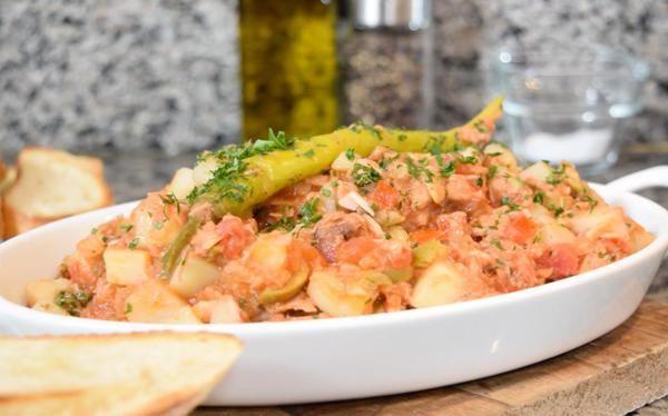 Atún a la vizcaína - receta completa paso a paso en video en www.cocinavital.mx
