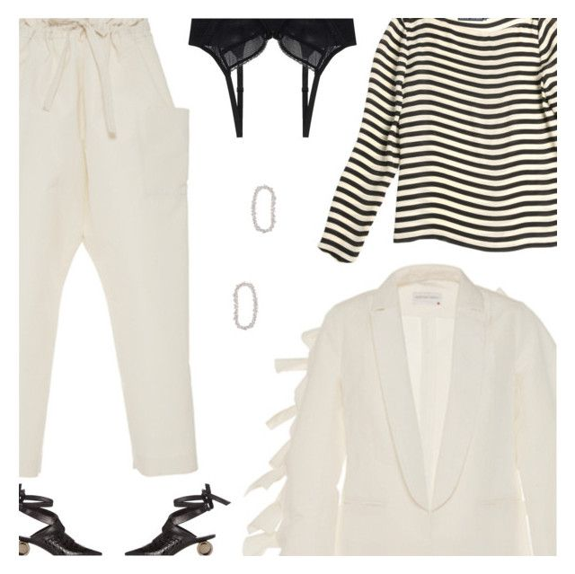 """Sunday"" by amberelb ❤ liked on Polyvore featuring Maison Rabih Kayrouz, Ralph Lauren, J.W. Anderson, Chantelle and Ana Khouri"