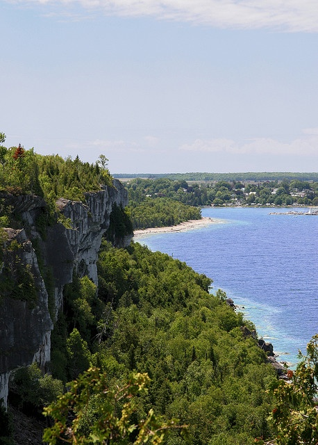 Here, Lion's Head is in view.  The Bruce Trail was opened in 1967, and is Canada's longest hiking trail. The 150 km's of trails in the Bruce Peninsula are considered the best in Southern Ontario, and offer hiking for the beginner and veteran hiker.