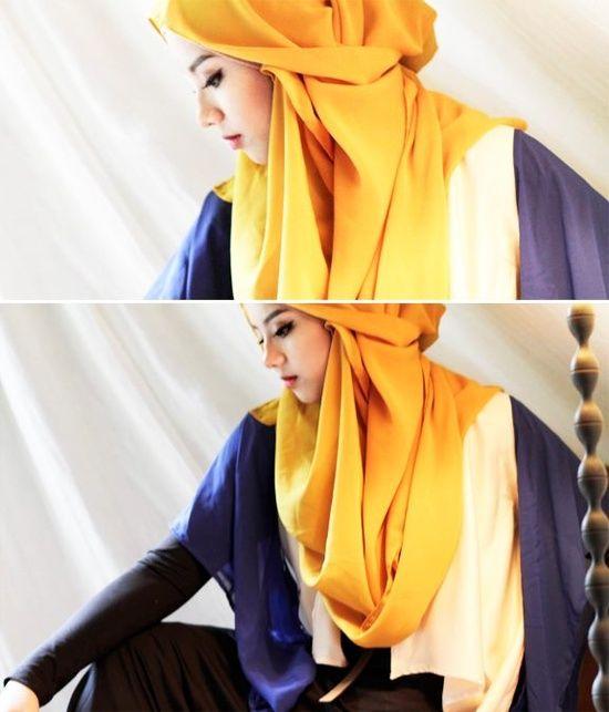Modern #hijab with elegant draping