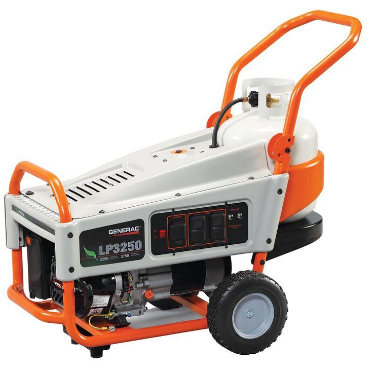 Amazon.com: Generac 6000 LP3250 3,250 Watt 212cc OHV Portable Liquid Propane Powered Generator with Tank Holder: Patio, Lawn & Garden
