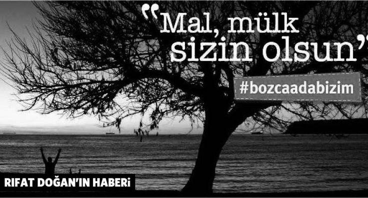 Bozcaadalılar ihaleye çıkarılan koylar için ses verecek: #bozcaadabizim