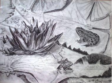 Анжелика Гулавская. Царство лягушек | Купить картину у художника