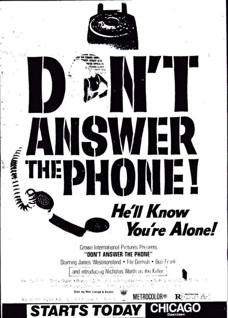 Never Answer The Phone Memento