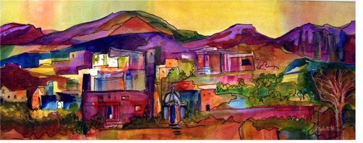 Maleita Wise watercolor landscape