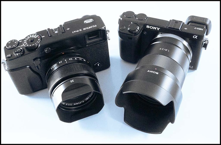 Fuji X-PRO 1 and Sony alpha NEX-7