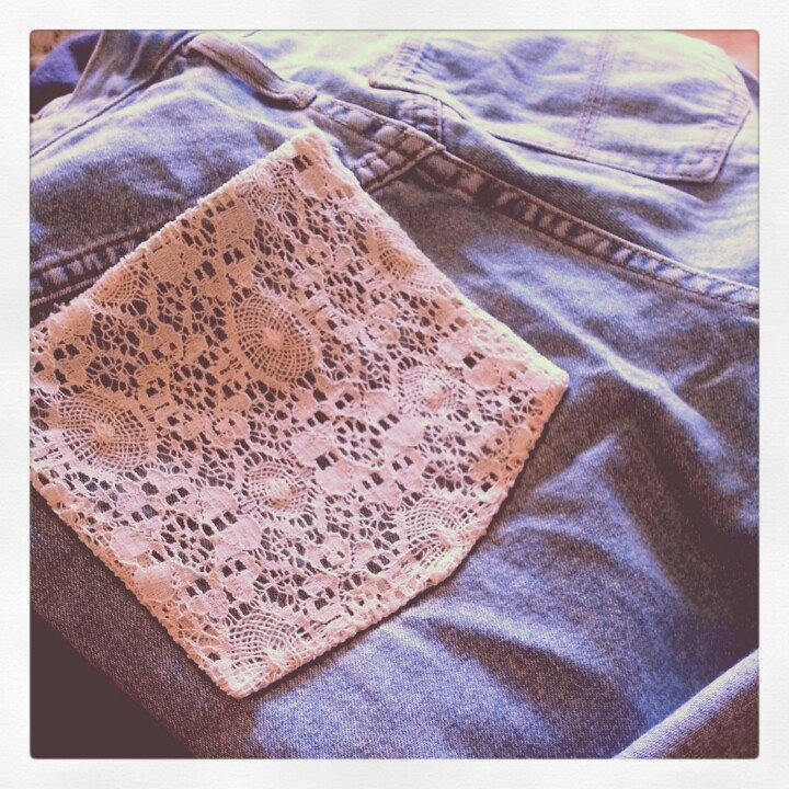 Upcycled vintage shorts with lace detail pocket, will be available soon at www.facebook.com/haymareeshop