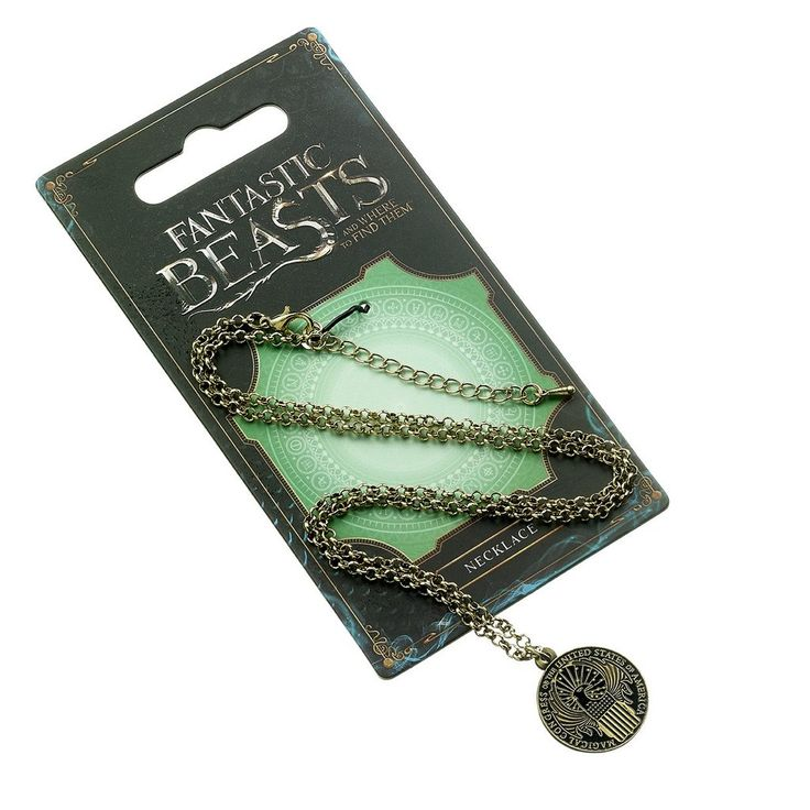 Official Fantastic Beasts Magical Congress Necklace on card
