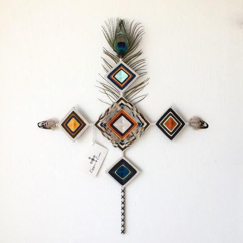 Irawe - handwoven gods eye cross. Home decor from byron bay $299.