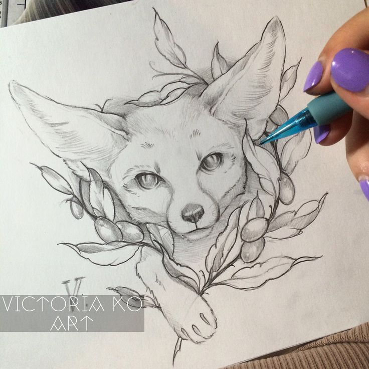 Fennec Fox Tattoo Design Design Fennec Tattoo En 2019