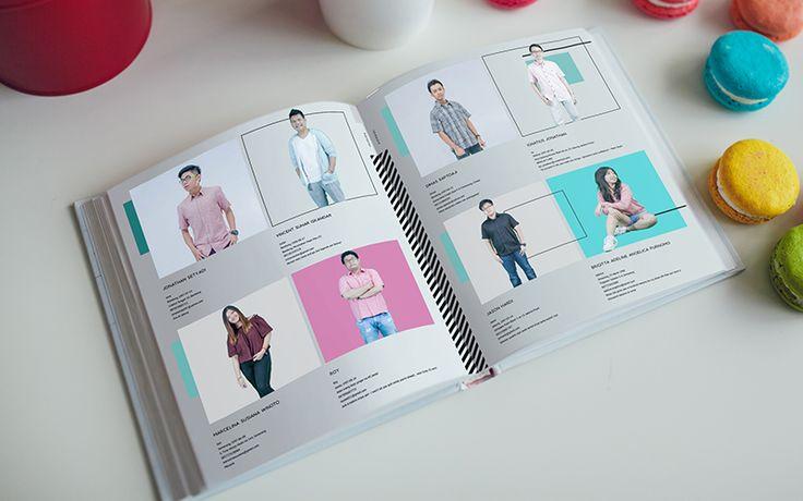 Design biodata untuk buku tahunan sekolah