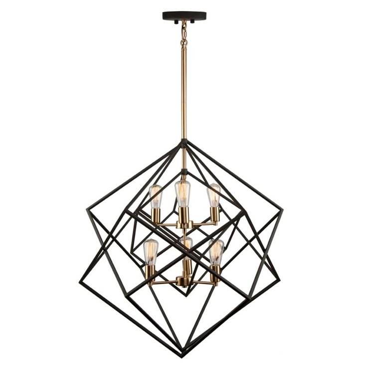 Artcraft AC11116 Artistry 6 Light Chandelier In Matte Black-Satin Brass is made by the brand Artcraft and is a member of the Artistry collection. It has a part number of AC11116.