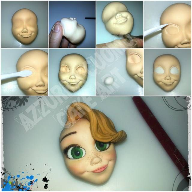 """Rapunzel tutorial"" series... #4: FACE... - CakesDecor"
