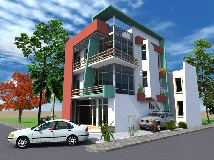 THINGS TO UNDERSTAND BEFORE YOU DESIGN A HOUSE : Amusing 3 Levels 3D Layout  Design A House With Minimalist Designs As Well As Slat Roofs Ide. Part 48