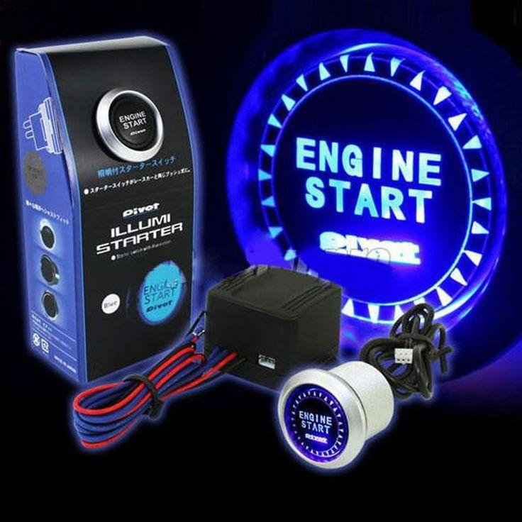 A prueba de agua LED Auto Sin Llave de Arranque Del Motor De Encendido de Encendido Botón de Interruptor de Botón de Arranque Con la Caja Al Por Menor para passat b6