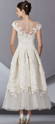 find this pin and more on tea length wedding dresses