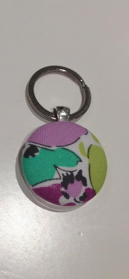 Fabric button key rings
