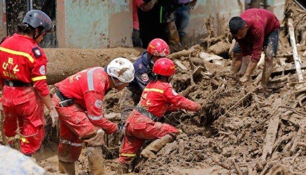 Η Κολομβία θρηνεί 254 νεκρούς που θάφτηκαν στη λάσπη