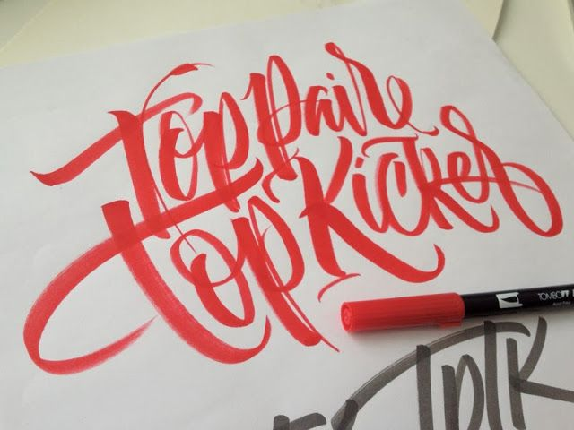 Mejores 315 im genes de caligraf a en pinterest letras Difference between calligraphy and typography