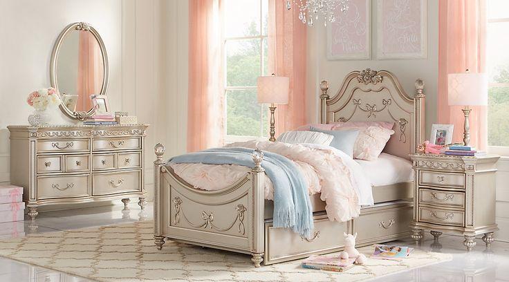 Disney Princess Silver 5 Pc Twin Poster Bedroom