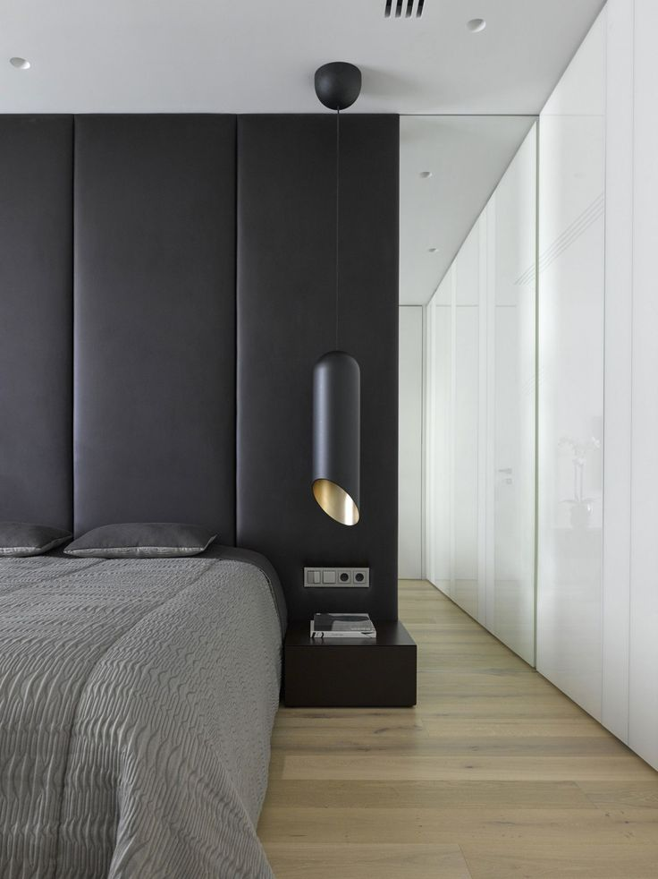 Black and white modern bedroom by Alexandra Fedorova