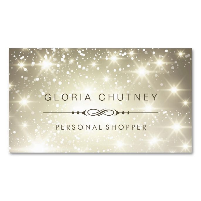 1517 best personal shopper business cards images on pinterest hairstylist sparkling bokeh glitter double sided standard business cards pack of this great business card design is available for customization reheart Gallery