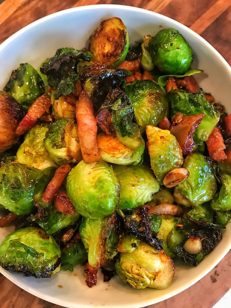 Caramelized Brussels Sprouts with Pork Jowl