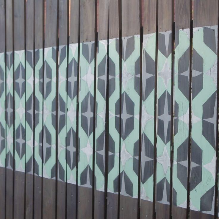 DIY Fence Mural