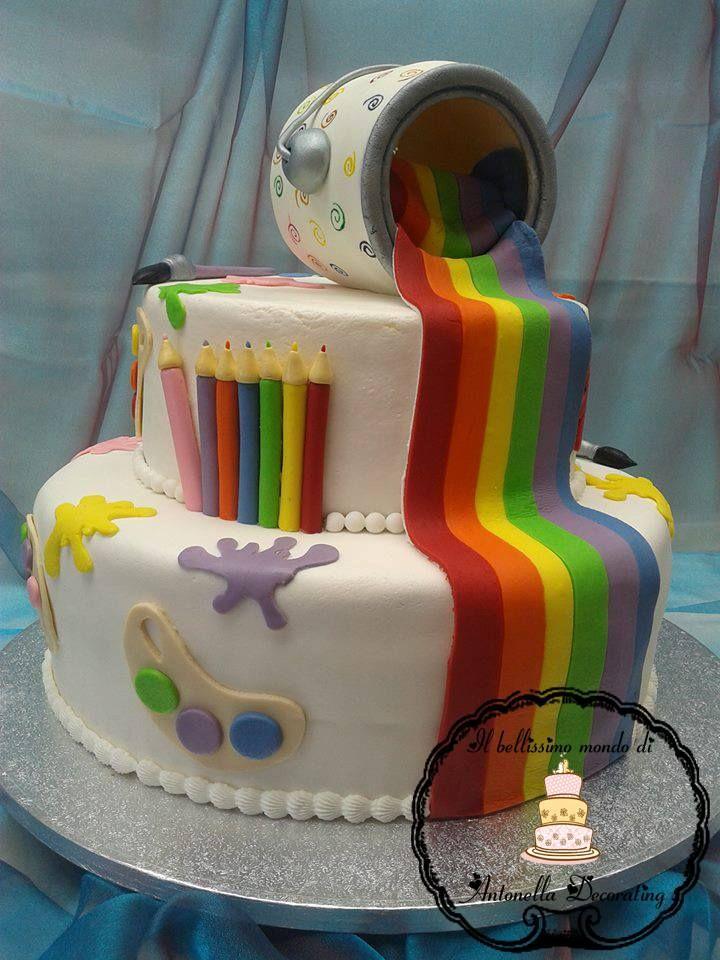 torte pasta di zucchero due piani ragazza - Cerca con Google