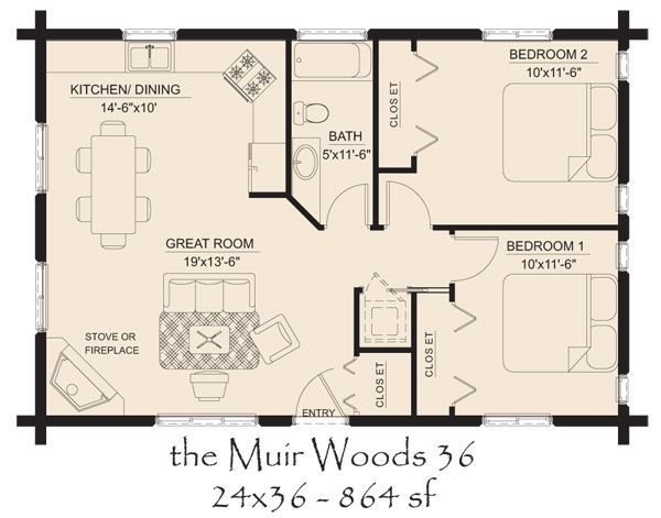 Od Log Cabin Floor Plans Hickory Spring Log Home Floor