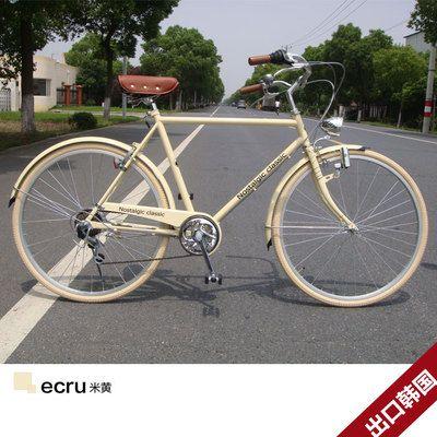 出口韩国 复古英伦休闲日本六变速自行车 男女式 BRIC-26寸尚毅-淘宝网