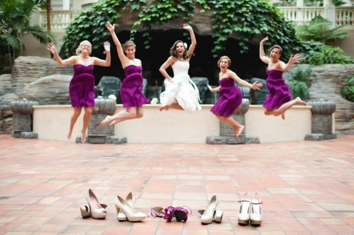 fun wedding picture with shoes!