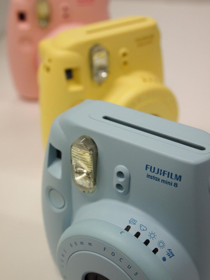 Fujifilm Instax Mini 8. All of the colors. Instant pictures. Yes.