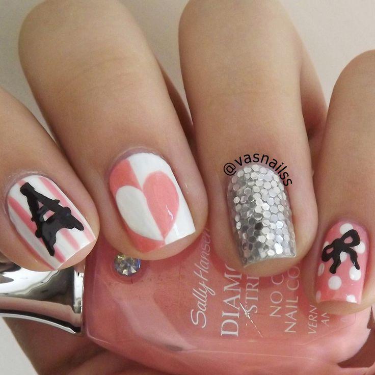 best 25 paris nail art ideas on pinterest paris nails i love paris and eiffel tower nails. Black Bedroom Furniture Sets. Home Design Ideas