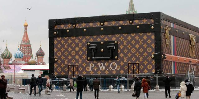 Big Isn't Always Better!  It was only erected 12 days ago but Louis Vuitton has been forced to dismantle its extreme trunk installation in Moscow's Red Square, after its presence caused the city's residents and politicians to complain.