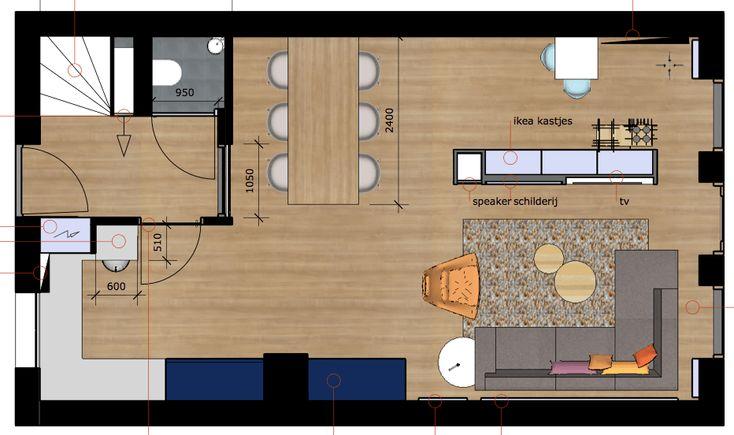 Slimme indeling plattegrond andere indeling nieuwbouw huis for Huiskamer opnieuw inrichten