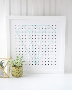 Pegboard String Art by Aly Dosdall using the Organization Gallery Frame by We R Memory Keepers
