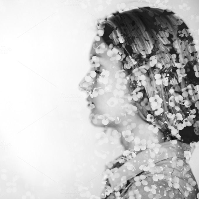 Female profile. Multiexposition #2 by Olga_Z on @creativemarket