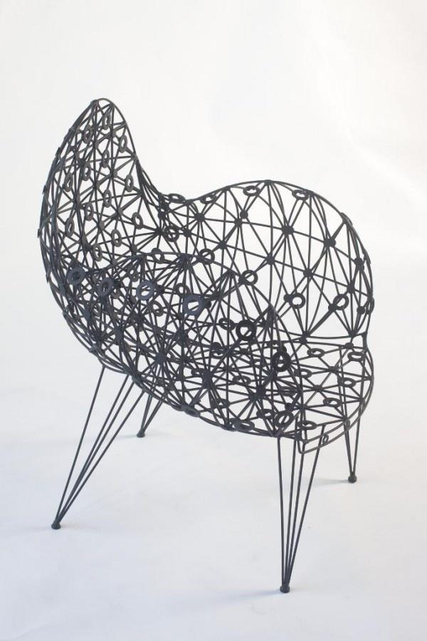 Baltasar Portillo, A Salvadoran Sculptor, Has Created The Black Dove Chair  (wrought Iron