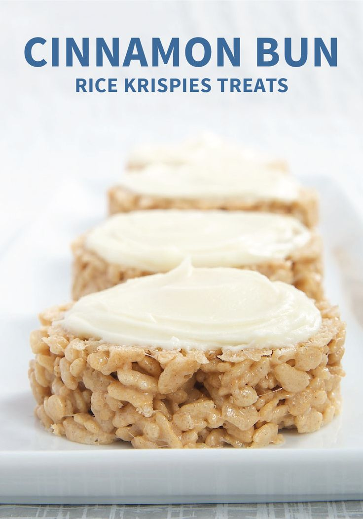 Add a touch of flavor to your holiday menu with Cinnamon Bun Rice Krispies Treats®. With a touch of cinnamon and cream cheese frosting, you won't be able to resist this decadent dessert. This recipe is sure to become a family favorite.