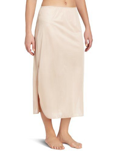 Vanity Fair Women's Tricot Double Slit  Half Slip 32 Inch Vanity Fair. $12.00. Machine Wash. Lightweight slip for perfect modesty. 100% Nylon. Gentle side slit for stylish versatility. Tricot double slit half slip. 100% Jentill  nylon. Machine wash warm.  Gentle cycle.   Dark colors separately.  No Bleach.  Tumble Dry Low Heat.  Cool Iron.