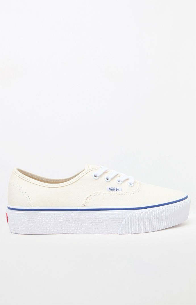 Vans Women s Off White Authentic Platform 2.0 Sneakers  76961d8764