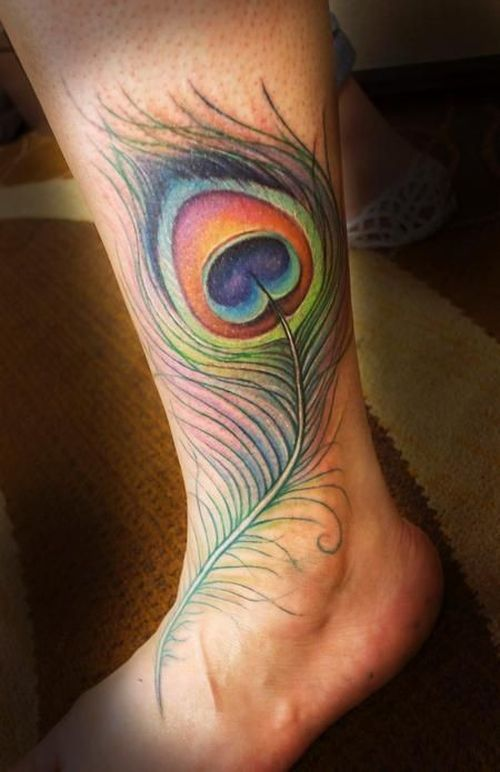indian gorgeous feather tattoo