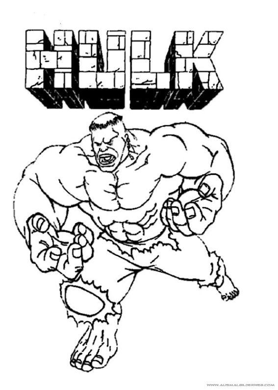 14 Besten Ausmalbilder Hulk Bilder Auf Pinterest Der