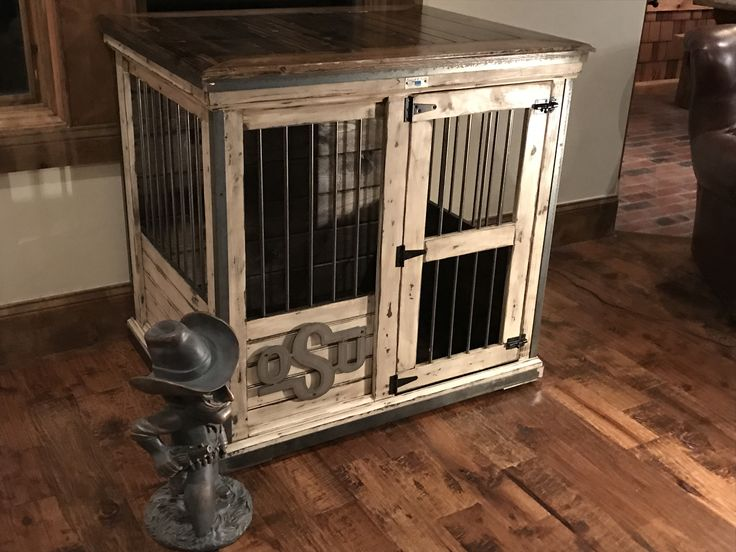 Handcrafted dog kennel and dog crate Custom dog kennel
