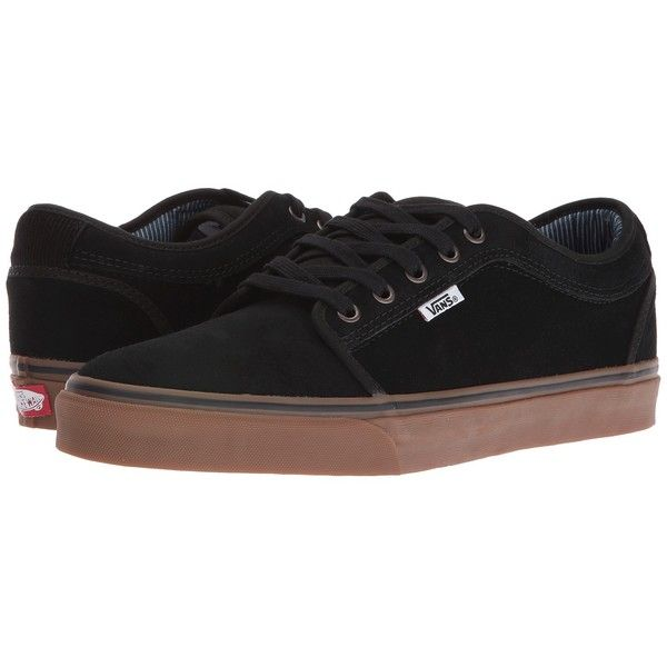 Vans Chukka Low ((Work Wear) Black/Gum) Men's Skate Shoes ($65) ❤ liked on Polyvore featuring men's fashion, men's shoes, men's sneakers, men's low top shoes, vans chukka low mens shoes, mens chukka boots, mens chukka sneakers and mens chukka shoes