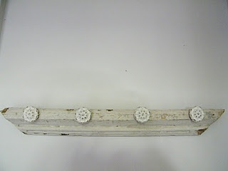 Part of an old Door redesigned into a coat hook for the Lilly House